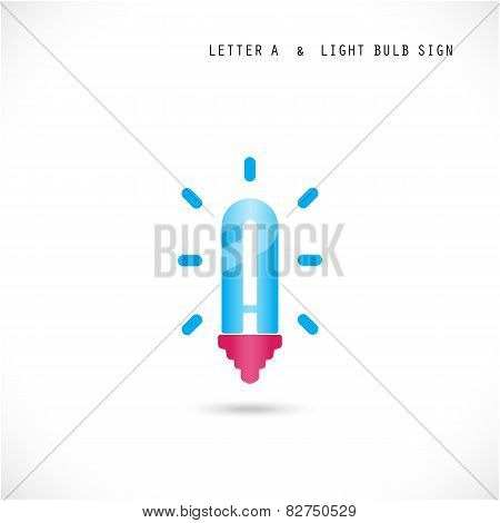 Creative Letter A Icon Abstract  Logo Design Vector Template