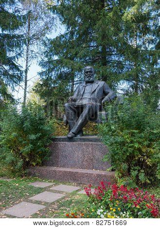 The Monument To Alexander Nikolayevich Ostrovsky.