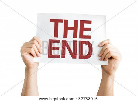 The End card isolated on white