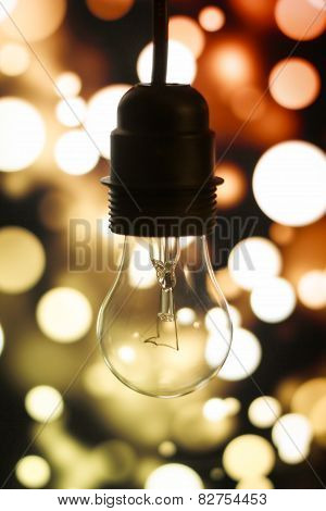 Old Lamp On A Luminous Background