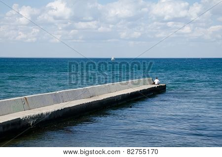 Breakwater In Feodosia