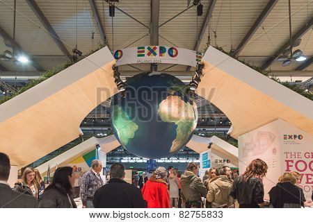 Expo Stand At Bit 2015, International Tourism Exchange In Milan, Italy
