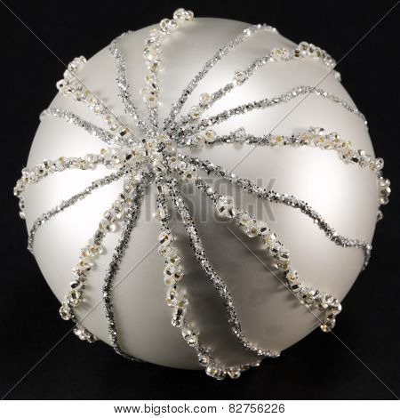Sparkling Silvery Christmas Ball, Tree Decoration