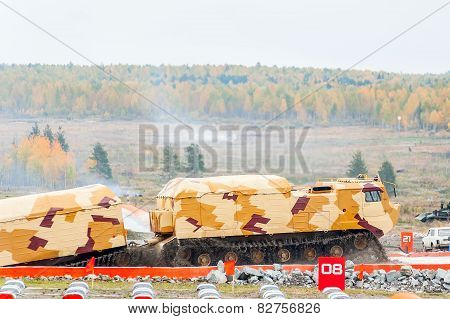 Tracked carrier DT-30P1 after water ford