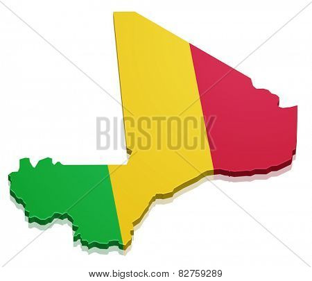 detailed illustration of a map of Mail with flag, eps10 vector