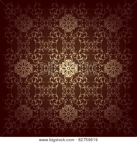 Vector Baroque Flowers Background