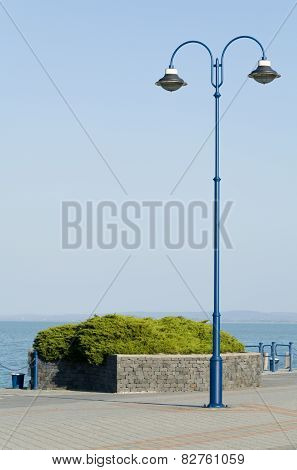 Vintage Blue Lamp Post