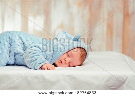 Adorable little baby sleeping