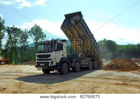 big truck tipper at work