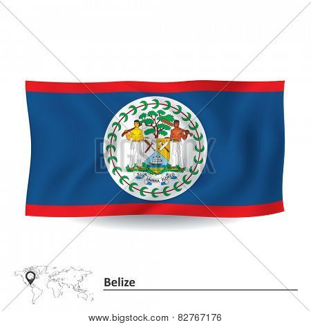 Flag of Belize - vector illustration