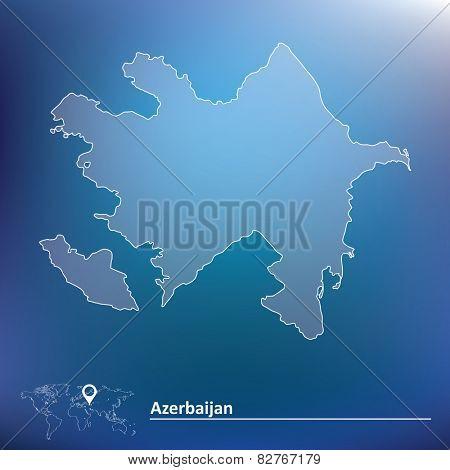 Map of Azerbaijan - vector illustration