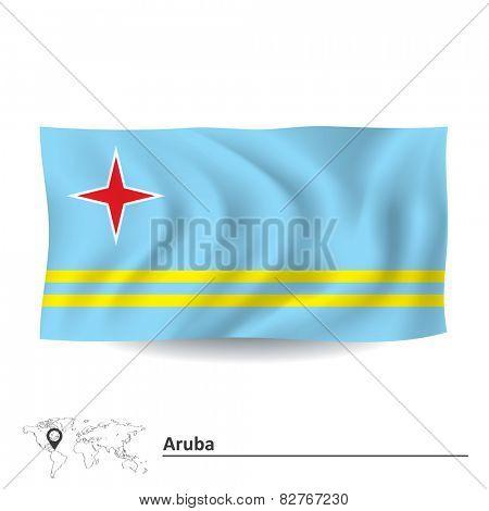 Flag of Aruba - vector illustration