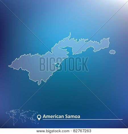 Map of American Samoa - vector illustration
