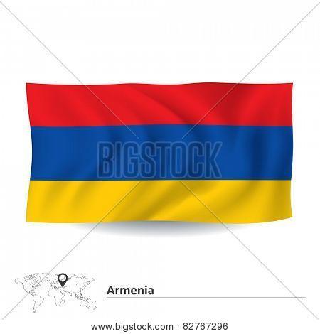 Flag of Armenia - vector illustration