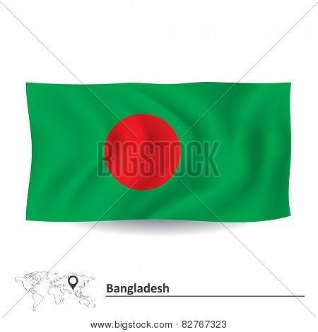 Flag of Bangladesh - vector illustration