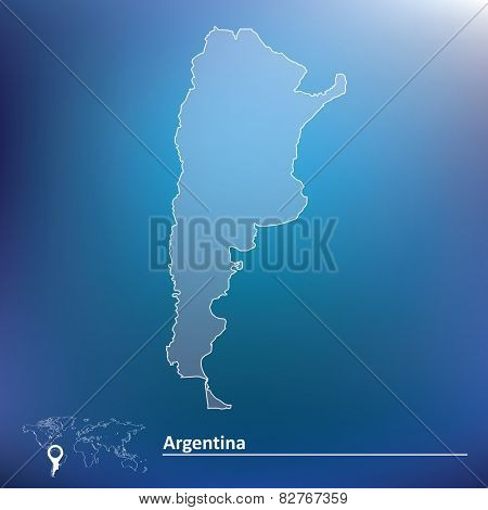 Map of Argentina - vector illustration