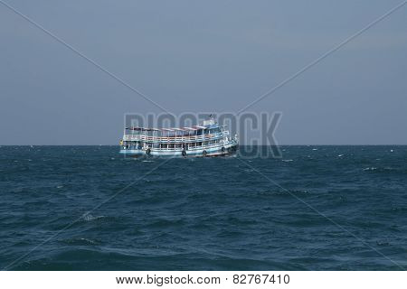 Typical passenger boat of Thailand