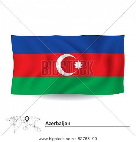 Flag of Azerbaijan - vector illustration