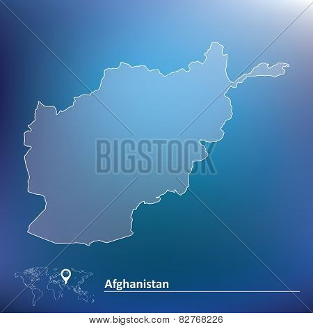 Map of Afghanistan - vector illustration
