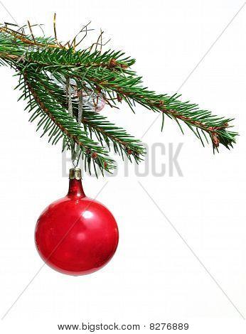 Retro ornamento del árbol de Navidad
