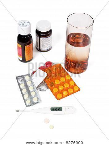 Termómetro y medicina