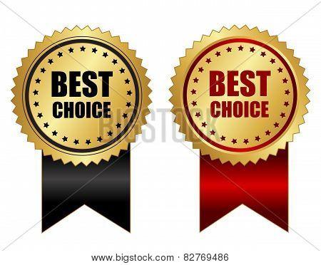 Best Choice Label  Banner Golden