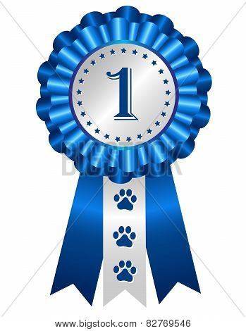Dog Award Ribbon Rosette