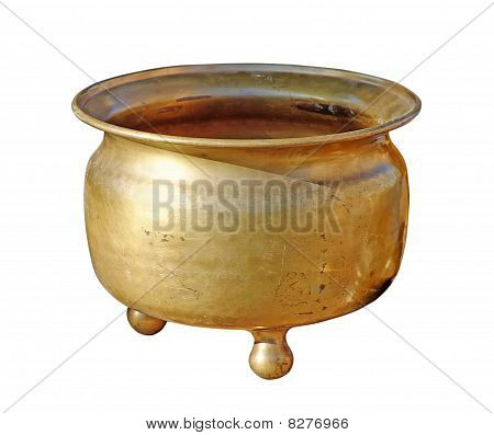 Antique copper chamber-pot