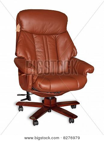 Boss leather armchair