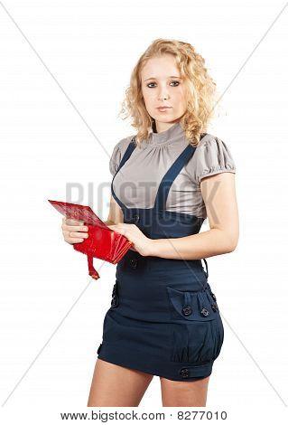 Mulher com a abertura de carteira