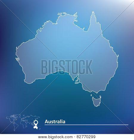Map of Australia - vector illustration