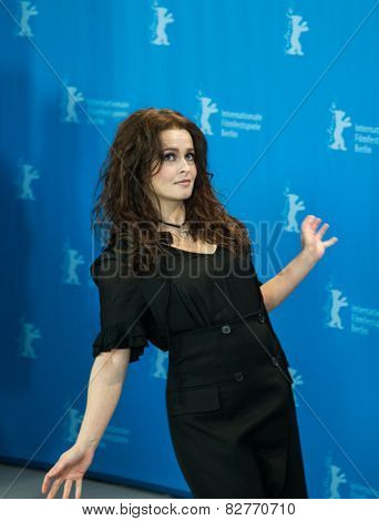 BERLIN, GERMANY - FEBRUARY 13: Helena Bonham Carter, 'Cinderella' photo-call, 65th Berlinale International Film Festival at Grand Hyatt Hotel on February 13, 2015 in Berlin, Germany