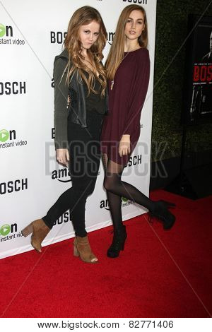 LOS ANGELES - FEB 3:  Mackenzie Lintz, Madison Lintz at the