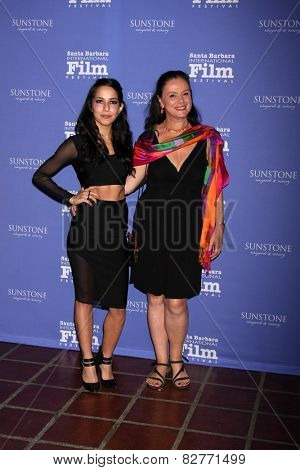 SANTA BARBARA - FEB 5:  Paola Baldion, Florence Jaugey at the Santa Barbara International Film Festival - American Riviera Award at a Arlington Theater on February 5, 2015 in Santa Barbara, CA