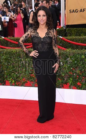 LOS ANGELES - JAN 25:  Julia Louis-Dreyfus arrives to the 21st Annual Screen Actors Guild Awards  on January 25, 2015 in Los Angeles, CA