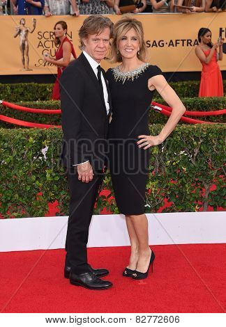 LOS ANGELES - JAN 25:  William H. Macy & Felicity Huffman arrives to the 21st Annual Screen Actors Guild Awards  on January 25, 2015 in Los Angeles, CA