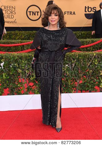 LOS ANGELES - JAN 25:  Joan Collins arrives to the 21st Annual Screen Actors Guild Awards  on January 25, 2015 in Los Angeles, CA