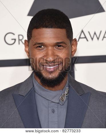 LOS ANGELES - FEB 08:  Usher arrives to the Grammy Awards 2015  on February 8, 2015 in Los Angeles, CA
