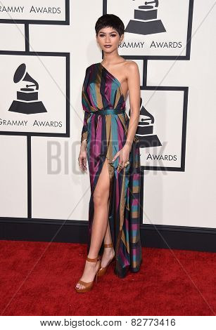LOS ANGELES - FEB 08:  Zendaya Coleman arrives to the Grammy Awards 2015  on February 8, 2015 in Los Angeles, CA