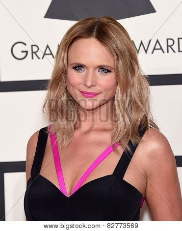 LOS ANGELES - FEB 08:  Miranda Lambert arrives to the Grammy Awards 2015  on February 8, 2015 in Los Angeles, CA
