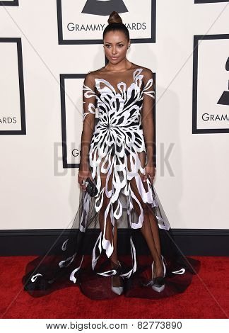 LOS ANGELES - FEB 08:  Kat Graham arrives to the Grammy Awards 2015  on February 8, 2015 in Los Angeles, CA