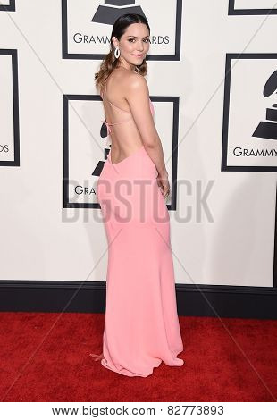 LOS ANGELES - FEB 08:  Katharine McPhee arrives to the Grammy Awards 2015  on February 8, 2015 in Los Angeles, CA
