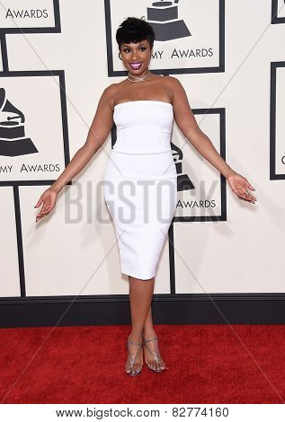 LOS ANGELES - FEB 08:  Jennifer Hudson arrives to the Grammy Awards 2015  on February 8, 2015 in Los Angeles, CA