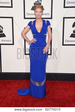 LOS ANGELES - FEB 08:  Iggy Azalea arrives to the Grammy Awards 2015  on February 8, 2015 in Los Angeles, CA