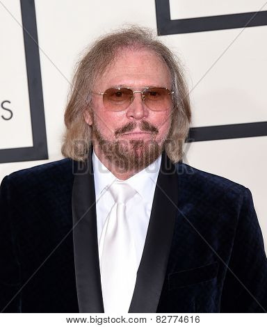 LOS ANGELES - FEB 08:  Barry Gibb arrives to the Grammy Awards 2015  on February 8, 2015 in Los Angeles, CA