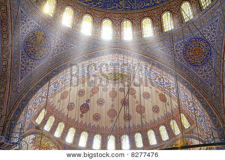 Interior Of The Blue Mosque /  Istanbul, Turkey