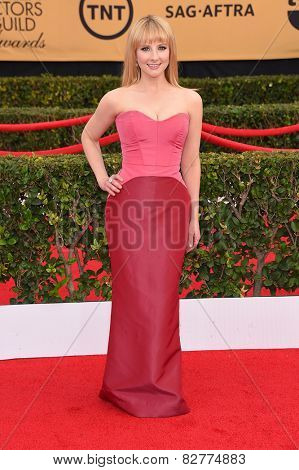 LOS ANGELES - JAN 25:  Melissa Rauch arrives to the 21st Annual Screen Actors Guild Awards  on January 25, 2015 in Los Angeles, CA