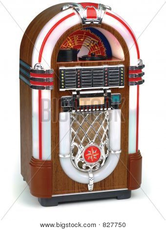 juke box on white