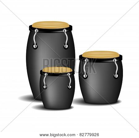 Congas band in black design