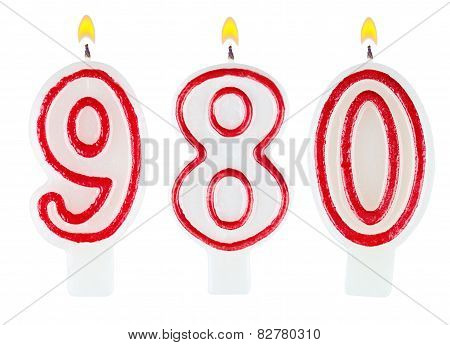 Candles Number Nine Hundred Eighty